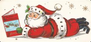 Santa Reading image