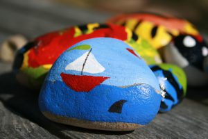 river stone painted