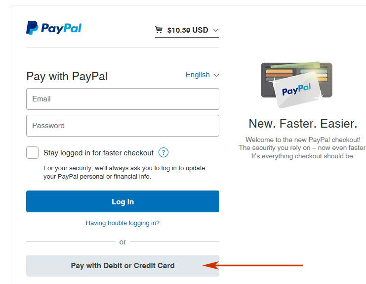 pay into paypal account