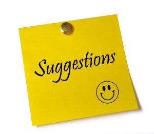 suggestions sticky note