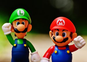 Luigi and Super Mario Figures
