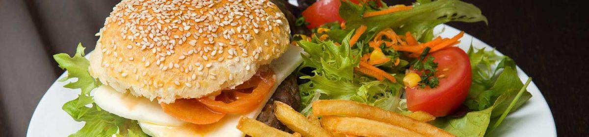 hamburger and salad recipe swap