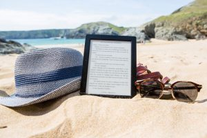 ebook beach hat glasses
