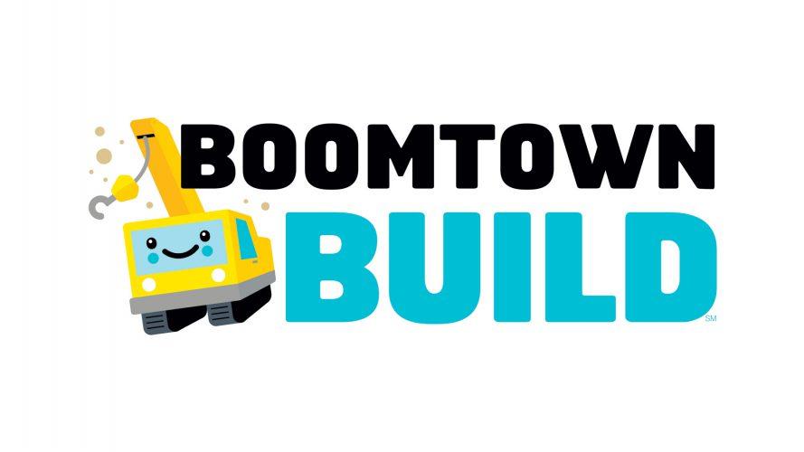 First Lego League Jr boomtown build logo