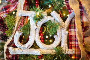 joy christmas ornament