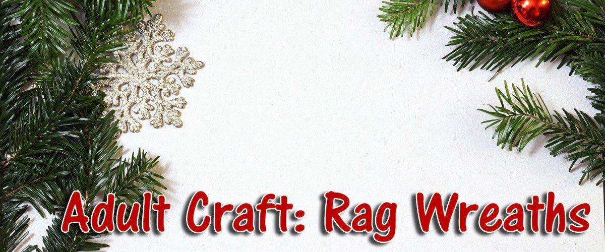 rag wreath adult craft
