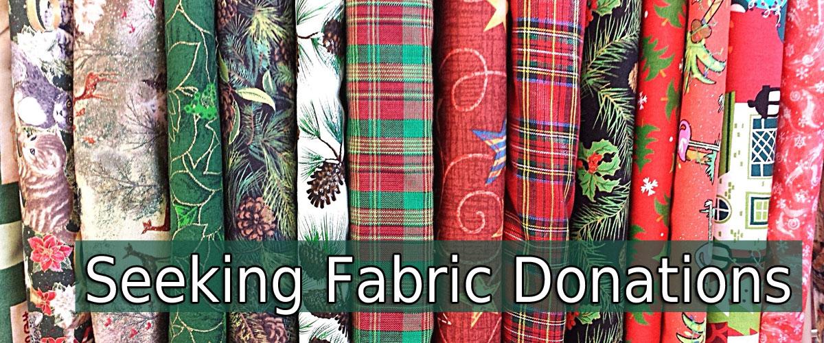 seeking fabric donations wreaths