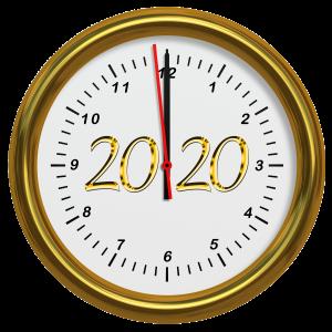 2020 clock new year