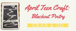 April Teen Grab & Go Craft