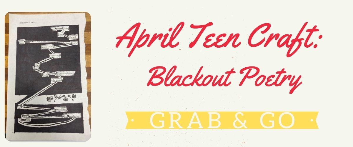 April Teen Grab & Go Craft