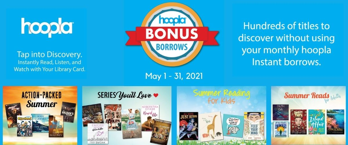 hoopla Bonus Borrows May 1-31, 2021