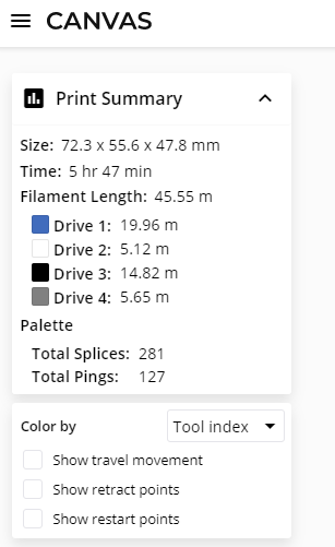 PruaSlicer Info Screenshot