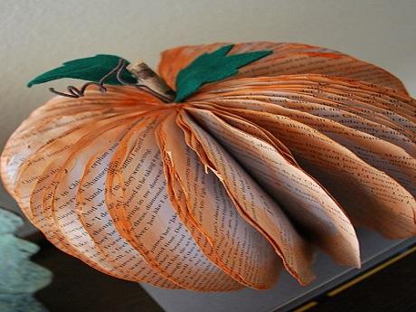 book pumpkin art